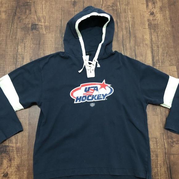 size 40 d9d04 a68ec Vintage USA Hockey TJ Oshie Jersey Hoodie